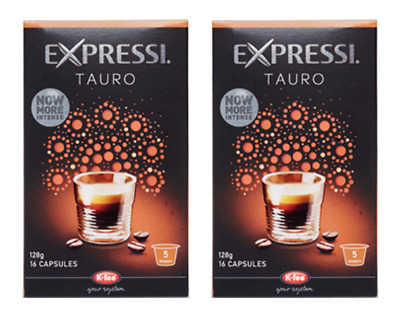 32 Capsules (2 boxes) Aldi Expressi Coffee Pods Tauro - Intensity 5