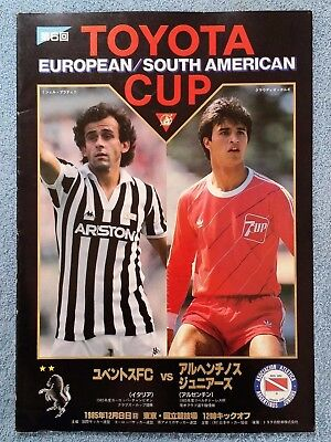 1985 - CLUB WORLD CUP FINAL PROGRAMME - JUVENTUS v ARGENTINOS JUNIORS