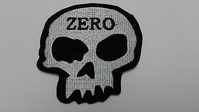 """1 pc. ZERO SKULL  EMBROIDERED PATCH 3-5/8"""" x 3-1/2"""" SEW/IRON-ON"""