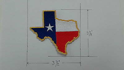 1 pc. TEXAS STATE LOGO EMB PATCH SEW/IRON-ON