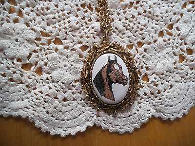 Beautiful Gold Chain Horse Neckleace