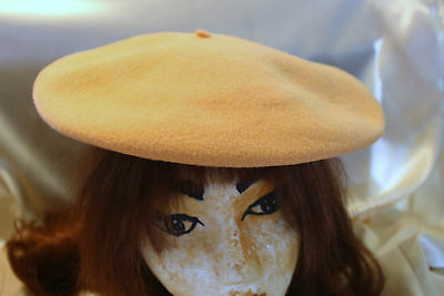 Vintage Beret Hat Patricia Dumont Italy Peach Color Beautiful Look!!