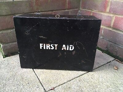 Vintage First Aid Box Tin Wall Hanging with Contents