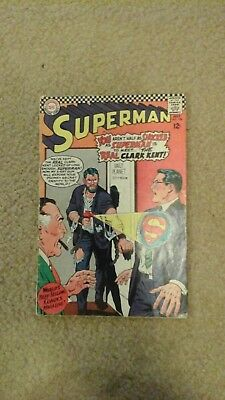 superman comics #198 gd- (dc comics)