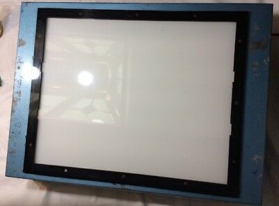 """Vintage Lighted GLASS Tracing Board - Free Shipping!!!    19""""w X 15""""h MN"""