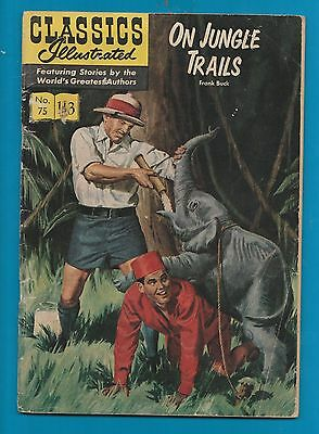 Classics Illustrated Comic  On Jungle Trails by Frank Buck  #920