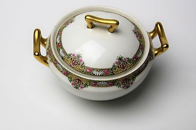Limoges Elite Works Bawo & Dotter Bwd30 Beautiful Sugar Bowl With Lid  Look!!!
