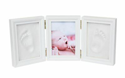 Kinteshun Baby Clay Handprint and Footprint Three Folds Photo Frame Kit,Desktop