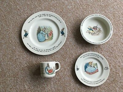 Peter Rabbit Wedgwood bowl plate cup set