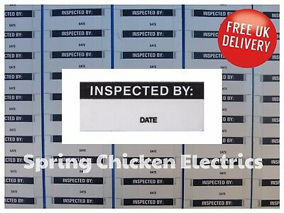 Self Adhesive 'inspected By' Labels - Aluminium Foil (Qty. 70)