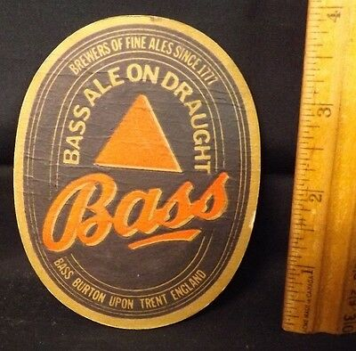 Bass Ale on Draught Coaster. Nice Condition