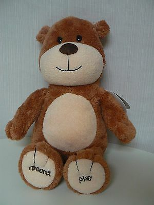 Hallmark RECORD A NAME SINGING BEAR Brown Plush NEW #KID3126 Special Keepsake