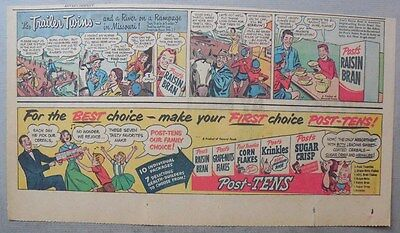 Post Cereal Ad: Trailer Twins in Missouri ! from 1940's-1950's 7 x 15 inches