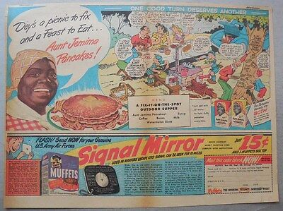 Aunt Jemima Pancakes Ad: One Good turn Deserves Another ! 1930-1940's