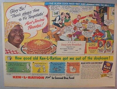 Aunt Jemima Pancakes Ad: There's Always Time to Fix Pancakes! 1930-1940's