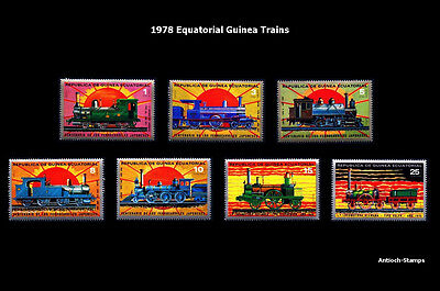 1978 Equatorial Guinea Trains, Locomotive - MNH Complete Set