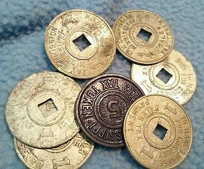 Vintage Tax Tokens~  Mississippi & Alabama