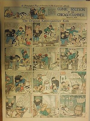 The Katzenjammer Kids by Knerr from 3/31/1918 Very Large Full Size Page !