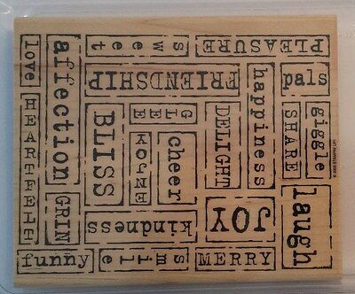 STAMPIN' UP WORD-BY-WORD Rubber Stamps