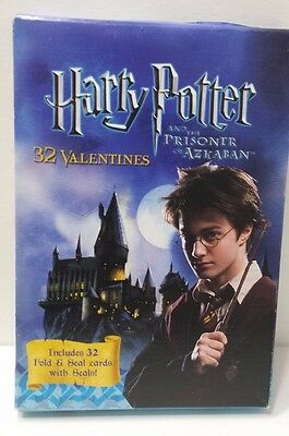 Harry Potter and the Prisoner of Azkaban Valentines 32 Rold and Seal Cards NIP