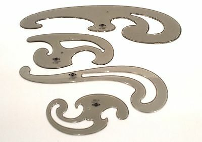 ALVIN CURVED SET of 4 Curved Templates FC44 Made in West Germany