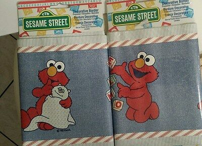 SESAME STREET Decorative Prepasted Wallpaper Border ELMO - 2 Packages