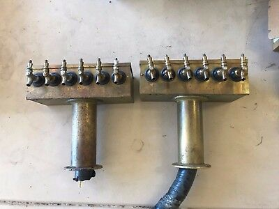2 Brass 6 Beer Tap Towers