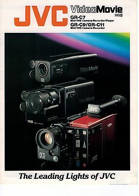 JVC VideoMovie GR-C7 GR-C9 GR-C11 Mini VHS Camera Recorder Player Brochure 3322F