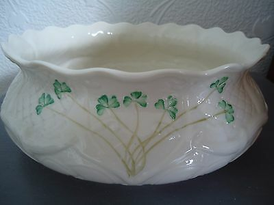 Belleek Shamrock Dalriada Fruit Bowl - large - First Quality - VGC