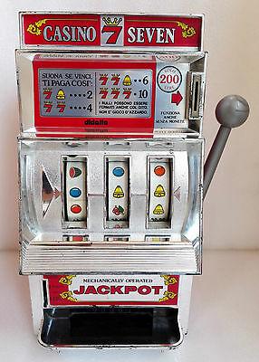 SLOT MACHINE WAKO - Made JAPAN anni 70 - Casino Seven Giochi a gettoni