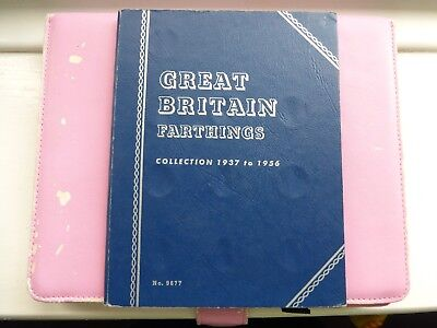 Whitman Folder Farthings coins 1937 To 1956 full compleat good/high grades