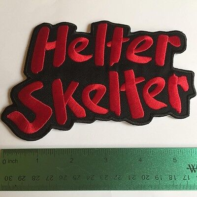 HELTER SKELTER Iron on Embroid Los Angeles History, Sharon Tate Labianca Manson