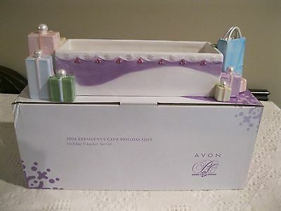 AVON HOLIDAY CRACKER SERVER with BOX