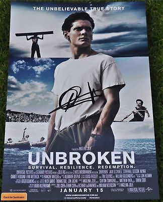 "Jack O'Connell Signed 12"" x 8"" Colour Photo Unbroken"