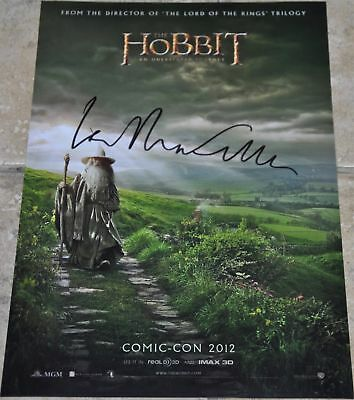 "Sir Ian McKellen Signed 12"" x 8"" Colour Photo The Hobbit Lord Of The Rings"