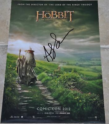 "Andy Serkis Signed 12"" x 8"" Photo The Hobbit Gollum"