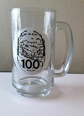 St. Remi De Tingwick, Quebec, Canada Beer Glass 1884-1994