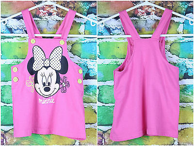 Disney BABY Pink Minnie Mouse Girls Shirt Size 12-18 Months Yellow Buttons Top