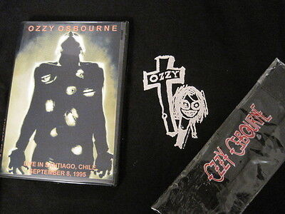 Ozzy Osbourne BUNDLE L Large Cross shirt  front + back print NWOT DVD wristband
