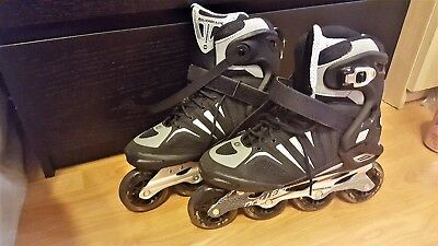Mens Rollerblades Crossfire 84 US Size 9 Excellent Condition with Shock Absorber