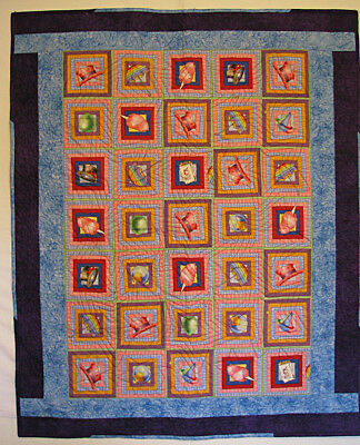 Baby Quilt Handmade Pieced Multi Coloured HMJQuiltsPlus