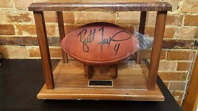 Authentic Brett Favre Autographed NFL Game Ball With Case