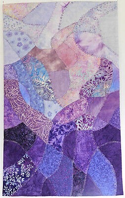 Art Quilt for Sale, Quilted Wall Hanging, Handmade, Purple, HMJQuiltsPLus