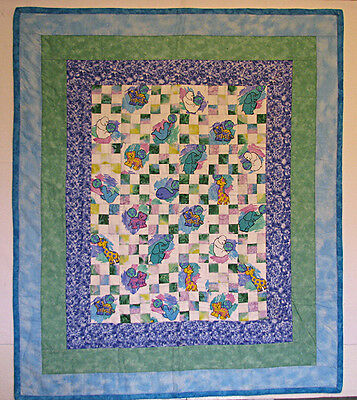 Baby Quilts for Sale, Baby Boy, Patchwork, Handmade, HMJQuiltsPLus