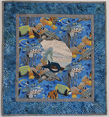 Art Quilts for Sale, Quilted Wall Hanging, Mermaid