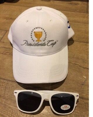 Us Pga- Presidents Cup- Cap And Promotional Sunglasses- Usa V Rest Of World 2017