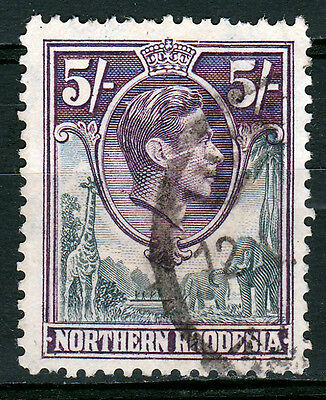 Northern Rhodesia-1938/52. 5/- SG46. Fine used.