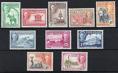 Gold Coast-1948 Definitive set to 2/-. Very fresh MM