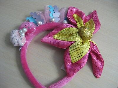 Disney Tokyo Resort Ariel Little Mermaid Flower Pearl Headband for Kids Pink