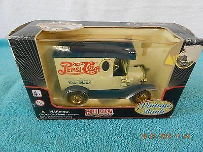 Collectible Golden Wheel Pepsi Cola Special Edition Die Cast Metal Coin Bank